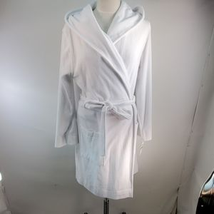 CHARTER CLUB WHITE HOODED ROBE SIZE LARGE